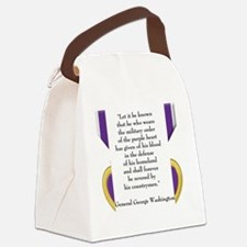 purpleheartedit Canvas Lunch Bag