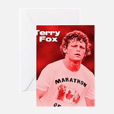 HeroTerryFox Greeting Card