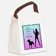ill-harm-you-before-my-pitbull-si Canvas Lunch Bag