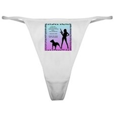 ill-harm-you-before-my-pitbull-sign Classic Thong
