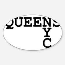 QUEENS NYC Sticker (Oval)