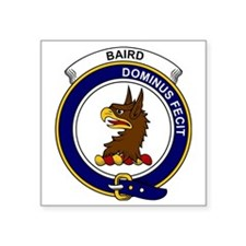 "Baird Clan Badge Square Sticker 3"" x 3"""