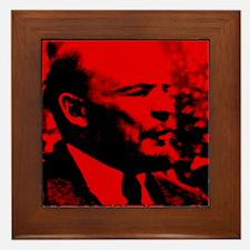 Lenin Speech Framed Tile