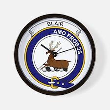 Blair Clan Badge Wall Clock