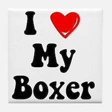 boxer Tile Coaster