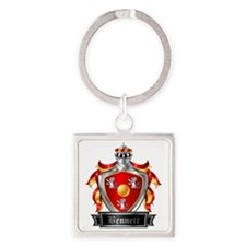 BENNETT COAT OF ARMS Square Keychain