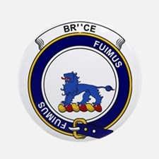 Bruce Clan Badge Round Ornament