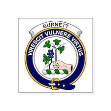 "Burnett Clan Badge Square Sticker 3"" x 3"""
