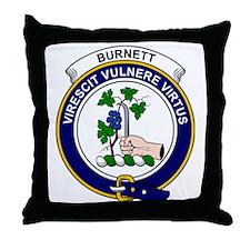 Burnett Clan Badge Throw Pillow