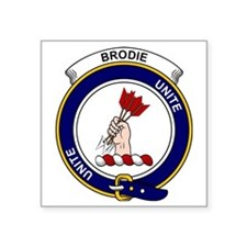 "Brodie Clan Badge Square Sticker 3"" x 3"""