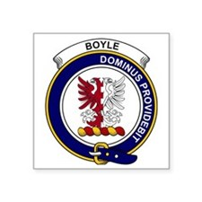 "Boyle Clan Badge Square Sticker 3"" x 3"""