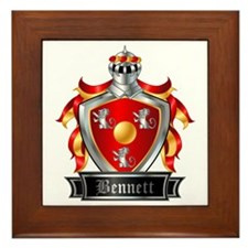BENNETT COAT OF ARMS FAMILY CREST Framed Tile