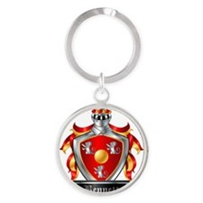 BENNETT COAT OF ARMS FAMILY CREST Round Keychain