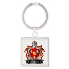 BENNETT COAT OF ARMS FAMILY CREST Square Keychain