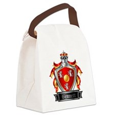 BENNETT COAT OF ARMS FAMILY CREST Canvas Lunch Bag