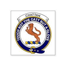"Chattan Clan Badge Square Sticker 3"" x 3"""