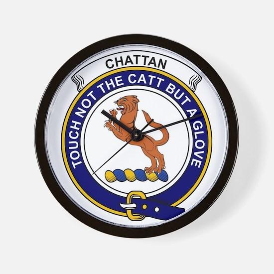 Chattan Clan Badge Wall Clock