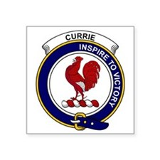 """Currie (or Curry) Clan Badg Square Sticker 3"""" x 3"""""""