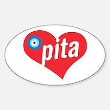 eye heart pita Oval Decal