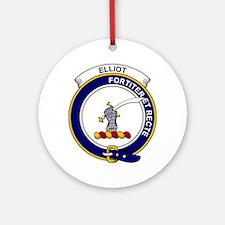 Elliot Clan Badge Round Ornament