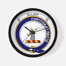 Elliot Clan Badge Wall Clock