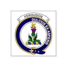 "Ferguson Clan Badge Square Sticker 3"" x 3"""