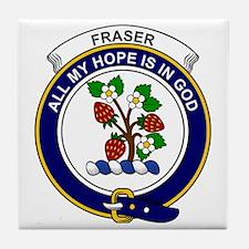 Fraser Clan Badge Tile Coaster