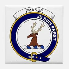 Fraser (of Lovat) Clan Badge Tile Coaster