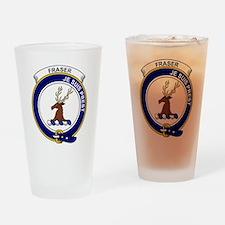 Fraser (of Lovat) Clan Badge Drinking Glass