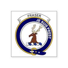 "Fraser (of Lovat) Clan Badg Square Sticker 3"" x 3"""