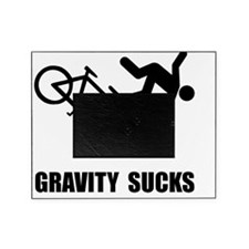 Gravity Sucks Bike Black Picture Frame