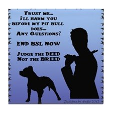 ill-harm-you-before-my-pitbull-male-v Tile Coaster