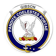 Gibson  Clan Badge Round Car Magnet