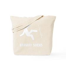 Skateboard Gravity White Tote Bag