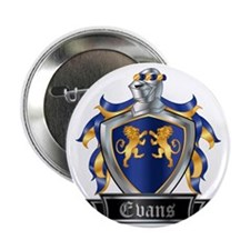 "EVANS COAT OF ARMS 2.25"" Button"