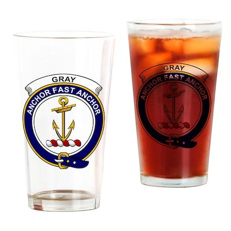 Gray Clan Badge Drinking Glass