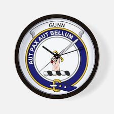 Gunn Clan Badge Wall Clock