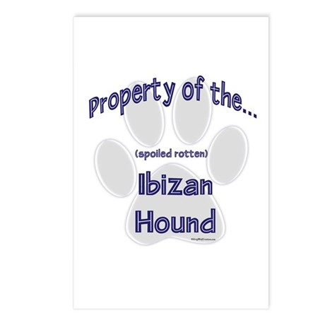 Ibizan Hound Property Postcards (Package of 8)