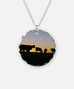Cows at sundown Necklace