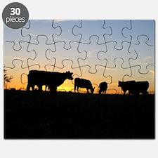 Cows at sundown Puzzle