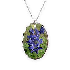Bluebonnets Necklace Oval Charm