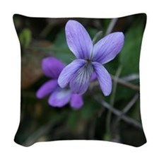 Violet Woven Throw Pillow