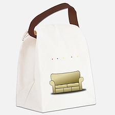 pivot white Canvas Lunch Bag