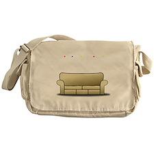 pivot white Messenger Bag