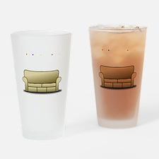 pivot white Drinking Glass