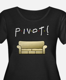 pivot wh Women's Plus Size Dark Scoop Neck T-Shirt