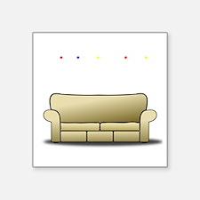 """pivot white Square Sticker 3"""" x 3"""""""