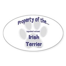 Irish Terrier Property Oval Decal
