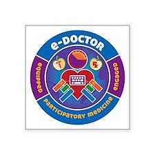 "eDoctor Circle Square Sticker 3"" x 3"""