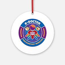eDoctor Circle Round Ornament